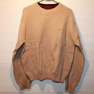 Tommy Hilfiger Men's XL Tan Knit Sweater